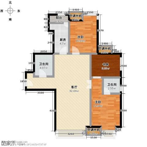 远洋城3室2厅2卫0厨114.00㎡户型图