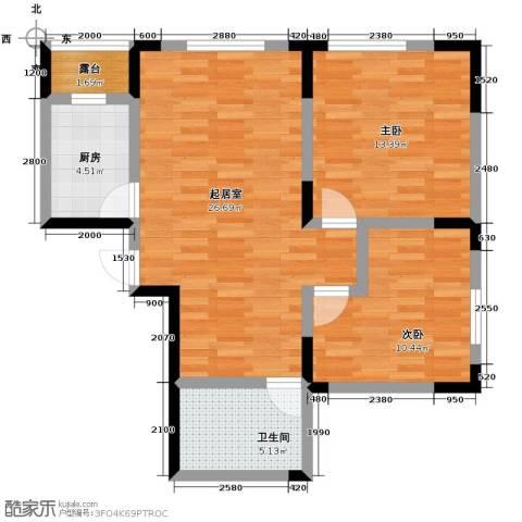 智造创想城2室2厅1卫0厨88.00㎡户型图