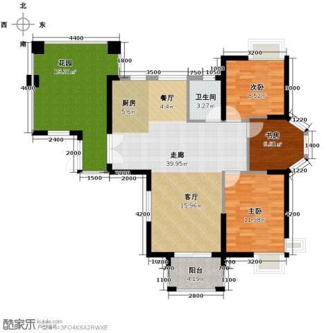 九仰梧桐公寓3室2厅1卫0厨99.00㎡户型图