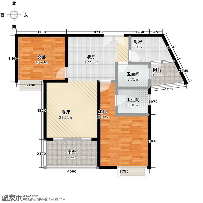 东山国际新城90.14㎡户型10室