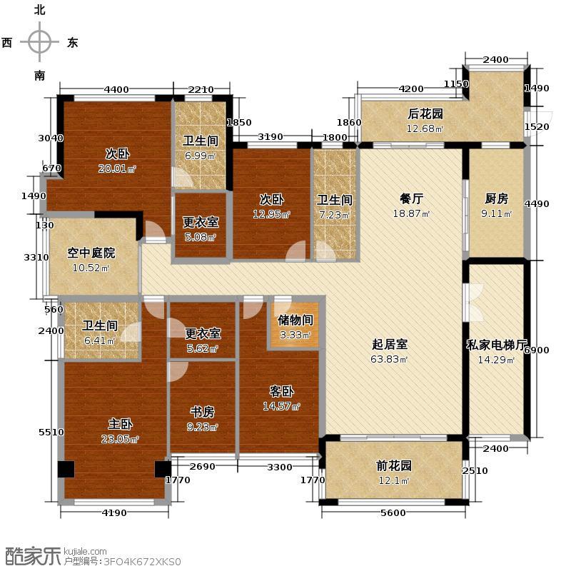 南湖半岛246.95㎡4栋户型4室2厅2卫