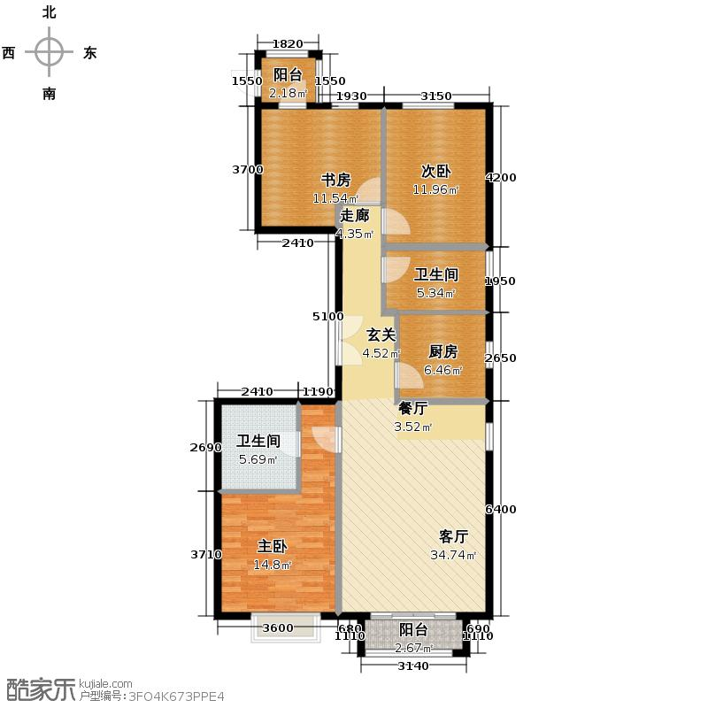 太阳公元133.00㎡2组团3号楼U1-2户型10室