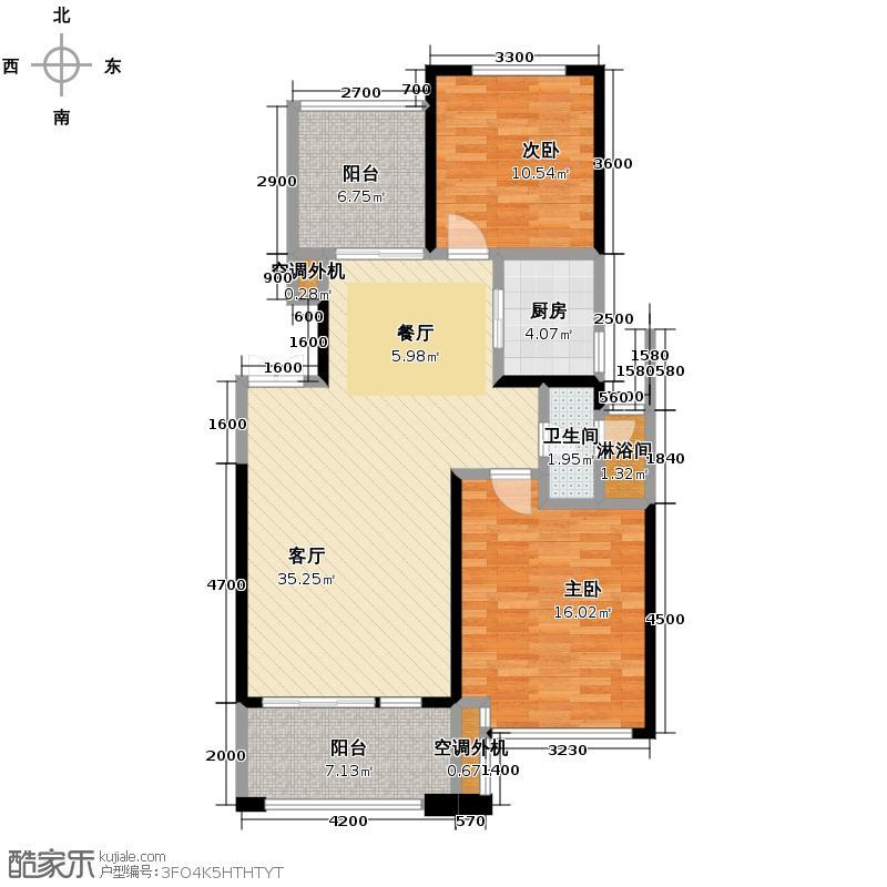 中城丽景香山92.82㎡户型10室
