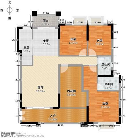 龙湾新城4室2厅2卫0厨140.00㎡户型图