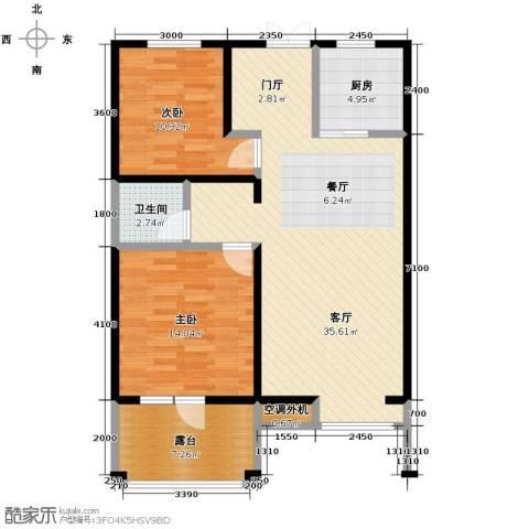 四季风情2室2厅1卫0厨91.00㎡户型图