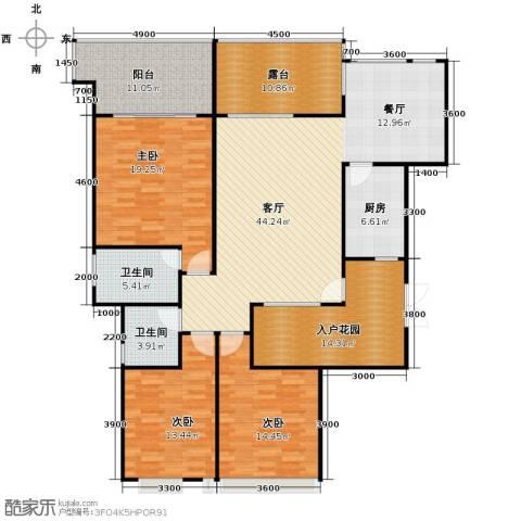 御城华府3室1厅2卫1厨143.54㎡户型图