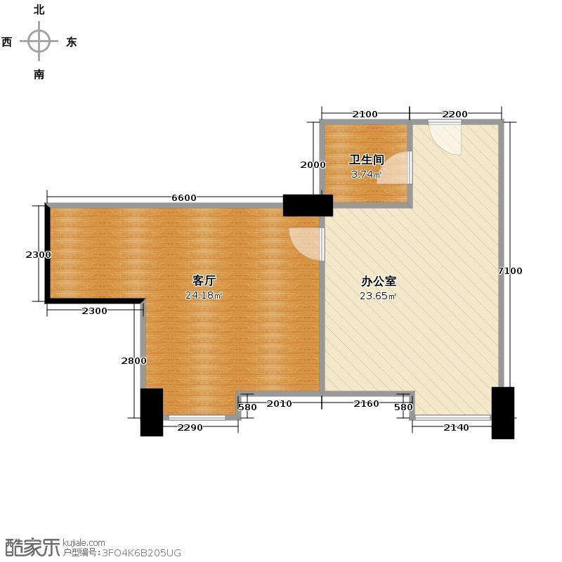 麦迪森广场72.88㎡A-2户型1室1厅1卫