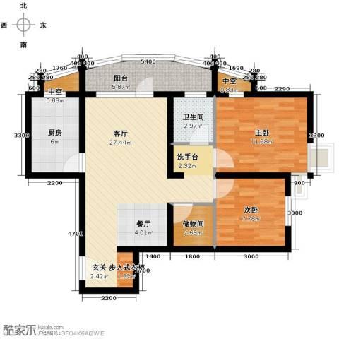 兴盛大成2室2厅1卫0厨96.00㎡户型图