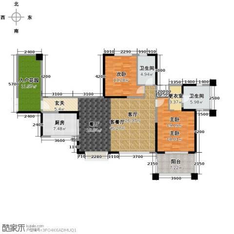 长城半岛城邦2室1厅2卫1厨116.32㎡户型图