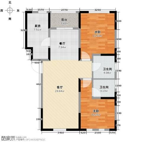 智造创想城2室2厅2卫0厨97.00㎡户型图
