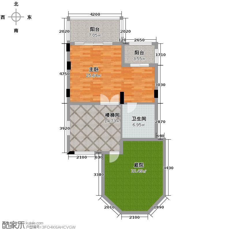 清河湾90.76㎡C2三层平面图户型10室