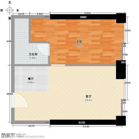 保利中汇广场1室1厅1卫0厨67.00㎡户型图