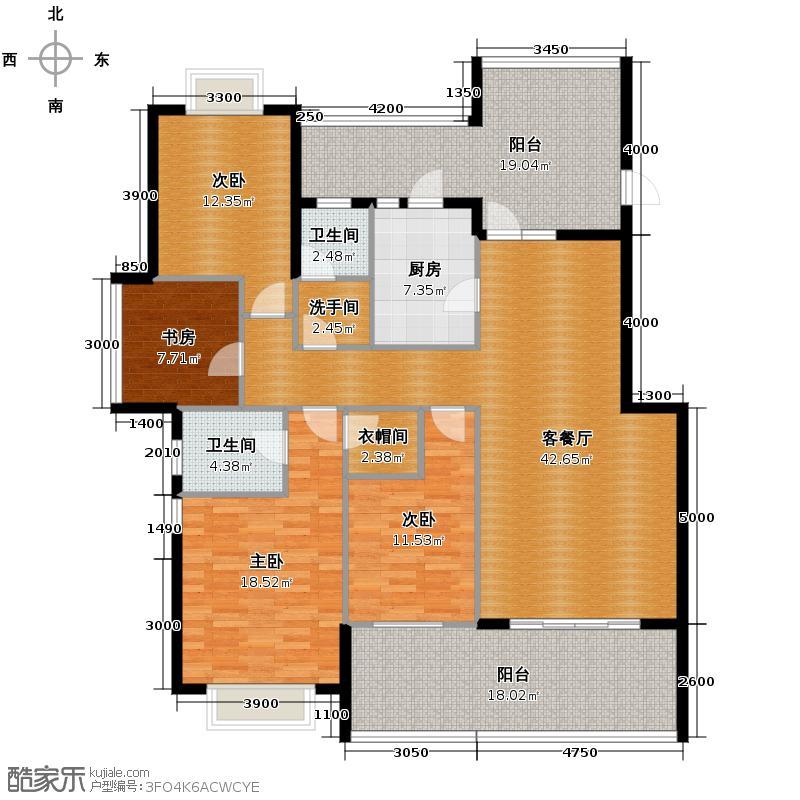 棕榈湖国际社区118.00㎡F户型10室