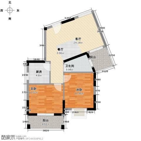 塞纳河畔2室2厅1卫0厨84.00㎡户型图