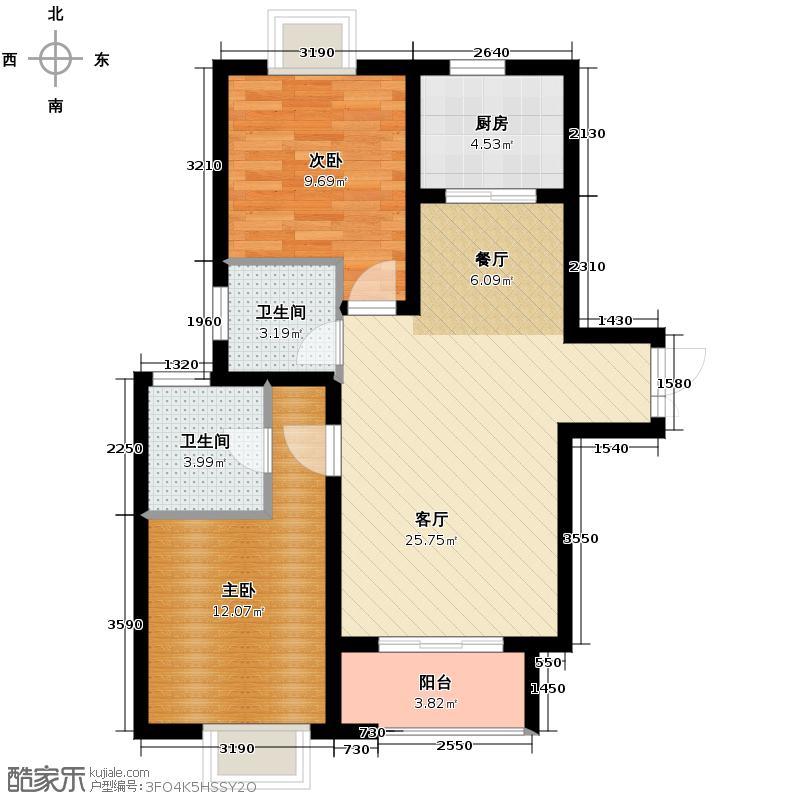 东尚观湖113.00㎡湖光三舍户型3室2厅1卫