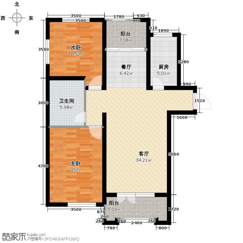 大华曲江公园世家92.18㎡项目在售户型10室