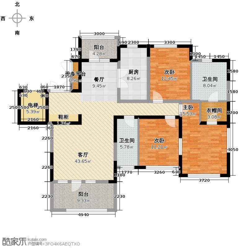 新地阿尔法国际社区150.03㎡户型10室