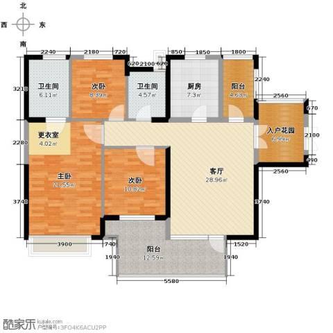 永泰枕流GOLF公寓133.00㎡户型图