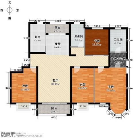 保利玫瑰湾4室2厅2卫0厨170.00㎡户型图