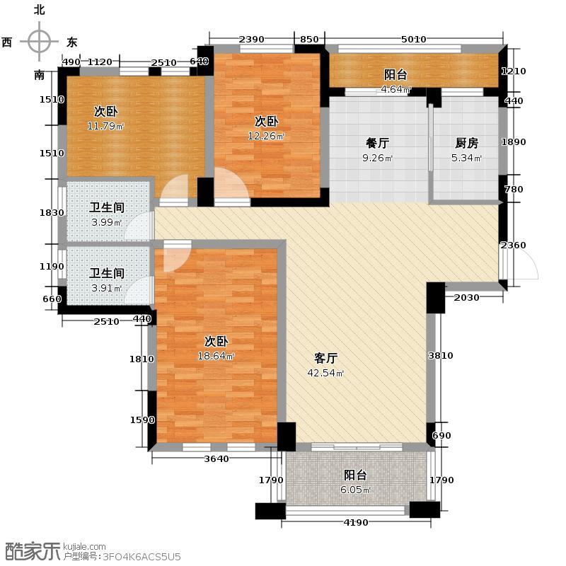 现代森林小镇金融SOHO垂直商业143.00㎡B区C栋1户型3室2厅2卫