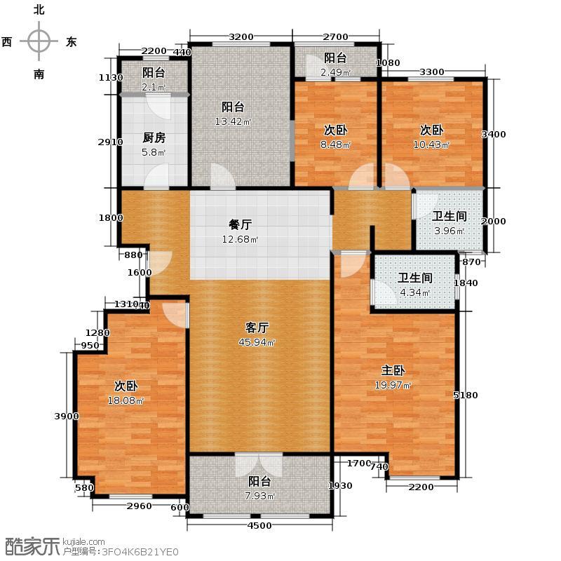 龙湖・香醍溪岸洋房153.28㎡龙湖・香醍溪苑户型10室