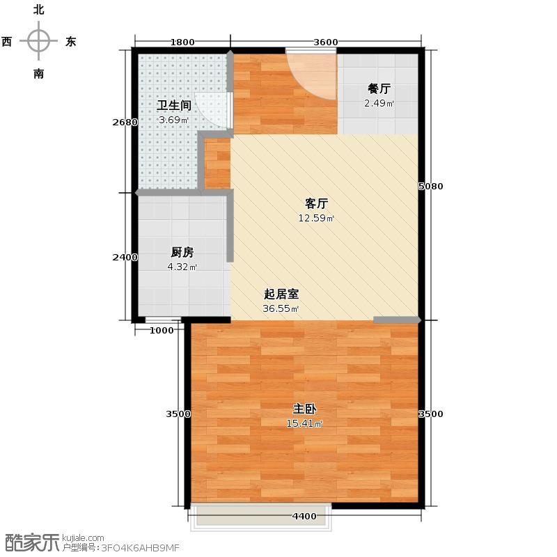 花样年香年广场53.00㎡一批次标准层C、D户型1卫
