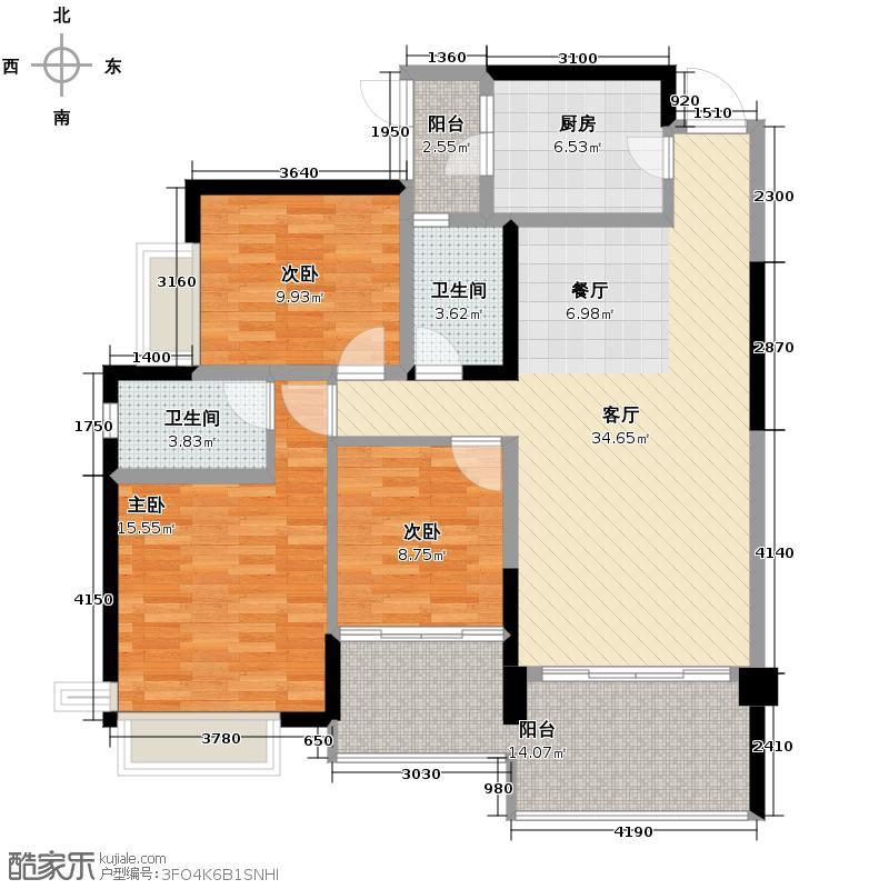 华凯逸悦豪庭130.30㎡16号楼02户型3室2厅2卫