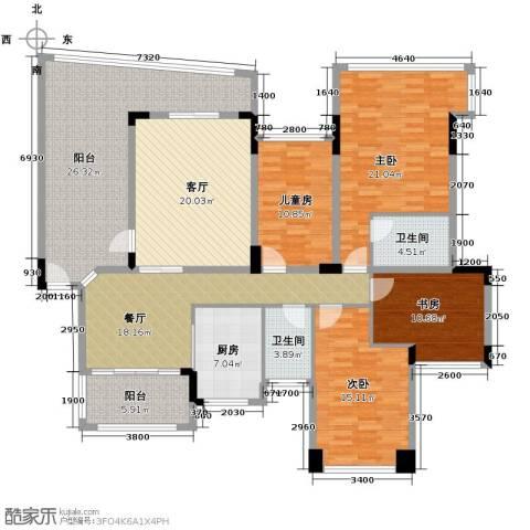 广州雅居乐花园4室2厅2卫1厨204.00㎡户型图
