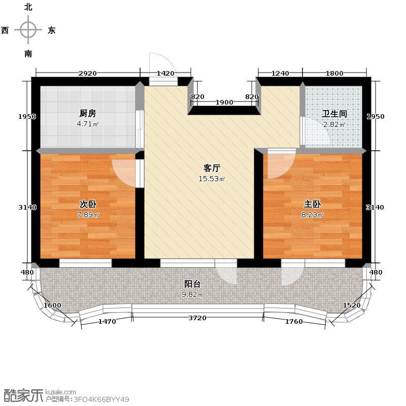 中信润泽园72.00㎡B2户型10室