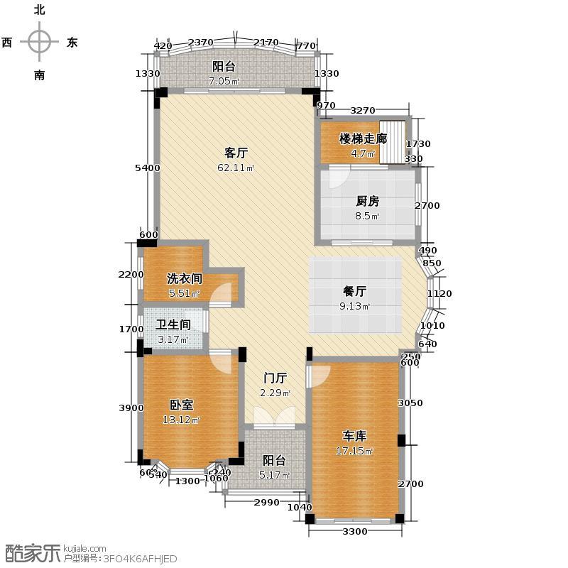 南航碧花园312.62㎡2L型欧式独立别墅一层户型10室