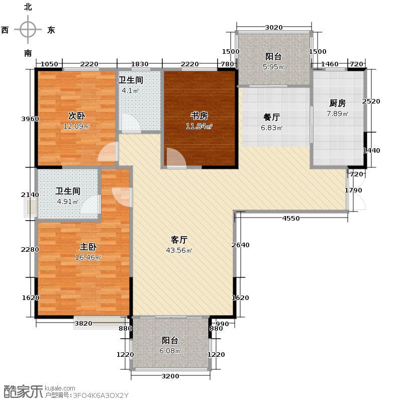 长房时代城136.28㎡C5户型3室2厅2卫
