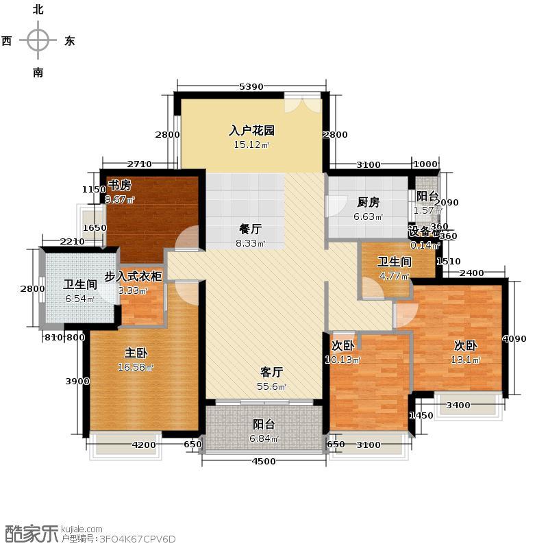 时代外滩168.00㎡02户型4室2厅2卫