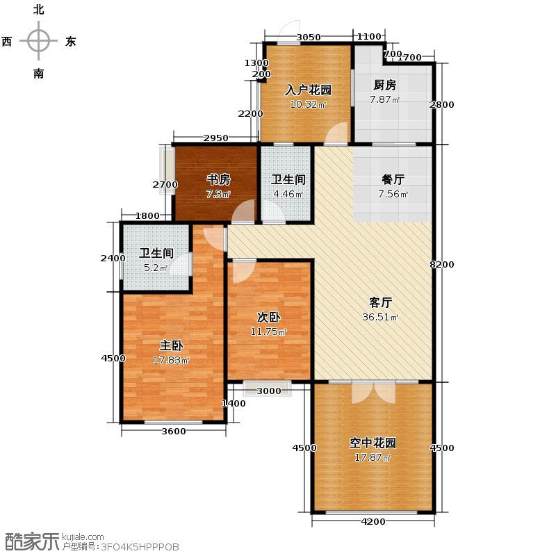 南湖国际社区124.00㎡G4b偶数层户型10室