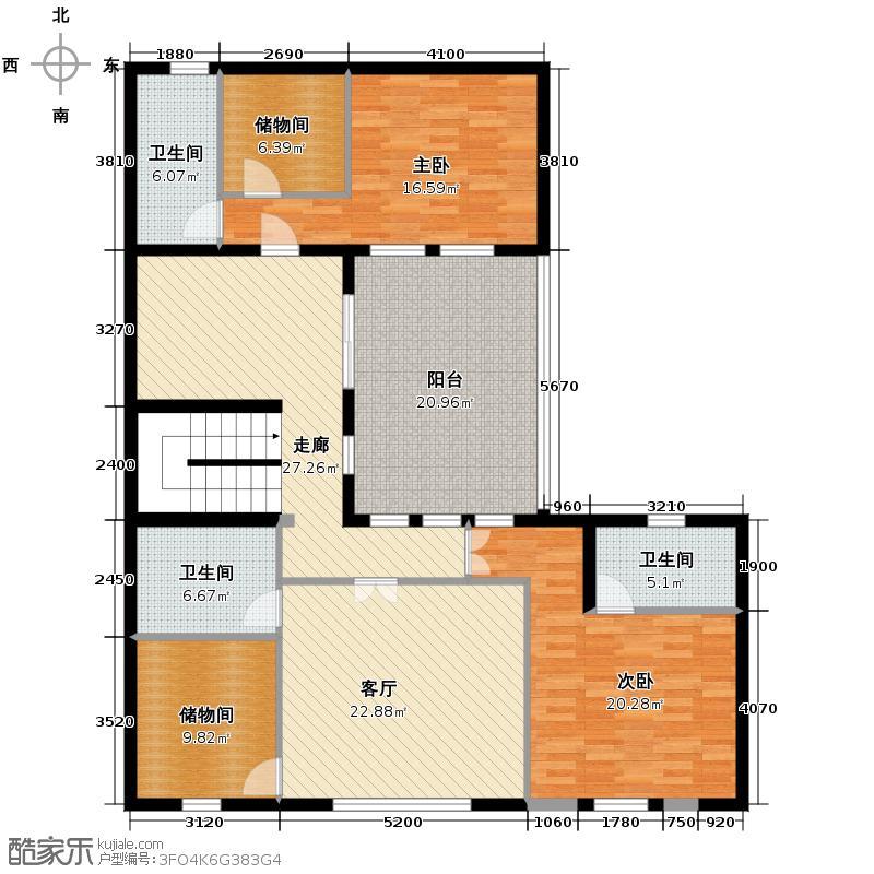 曲江公馆和园147.51㎡L-B二层户型10室