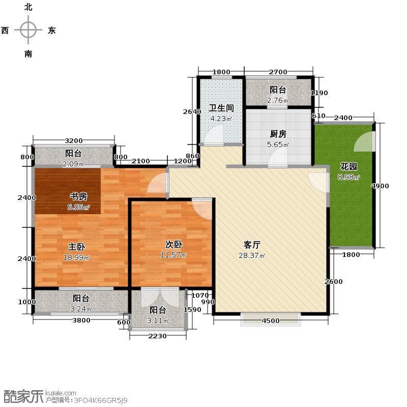 米兰东湖湾89.15㎡E5户型10室