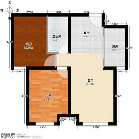 永定河孔雀城英国宫2室2厅1卫0厨65.51㎡户型图