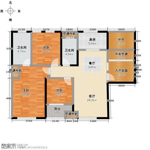 光谷坐标城�馆3室2厅2卫0厨119.00㎡户型图