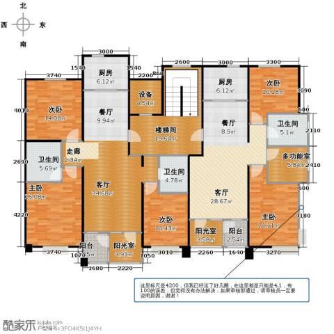 泰达汉郡3室2厅2卫0厨198.97㎡户型图