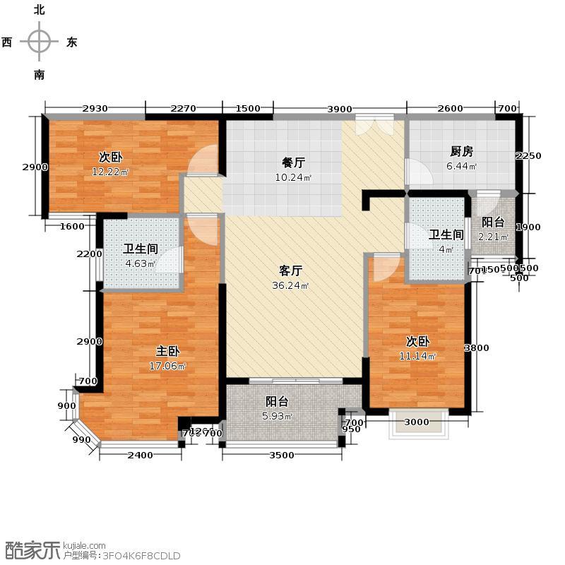 华润橡树湾111.07㎡2期户型10室