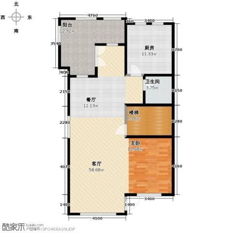 万通龙山逸墅1室2厅1卫0厨127.00㎡户型图