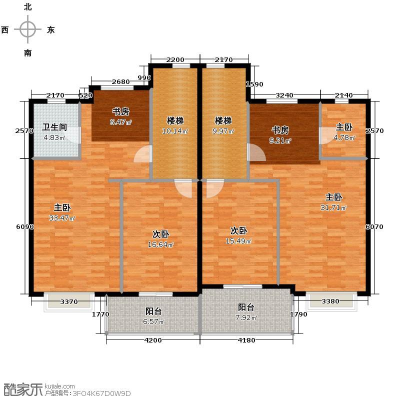 碧桂园豪园154.36㎡户型10室