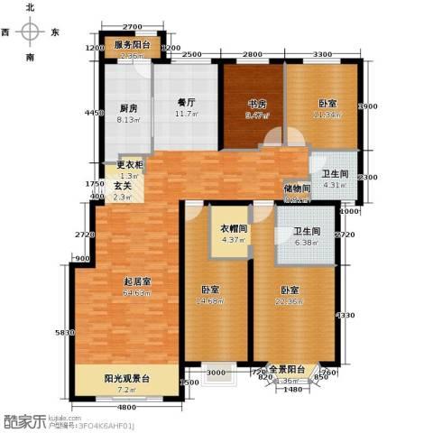 北京奥林匹克花园4室2厅2卫0厨144.47㎡户型图
