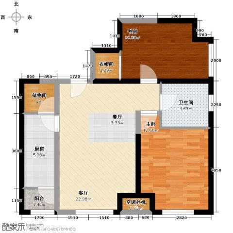 瞰海品筑2室1厅1卫1厨91.00㎡户型图