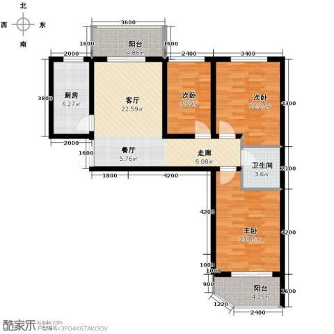 家天下2室1厅1卫0厨103.00㎡户型图