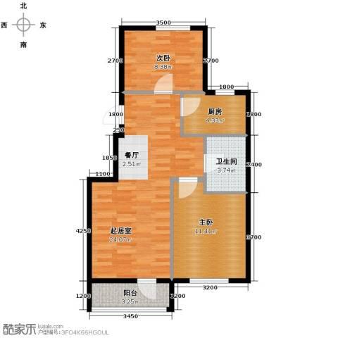 大港永安四季2室2厅1卫0厨77.00㎡户型图