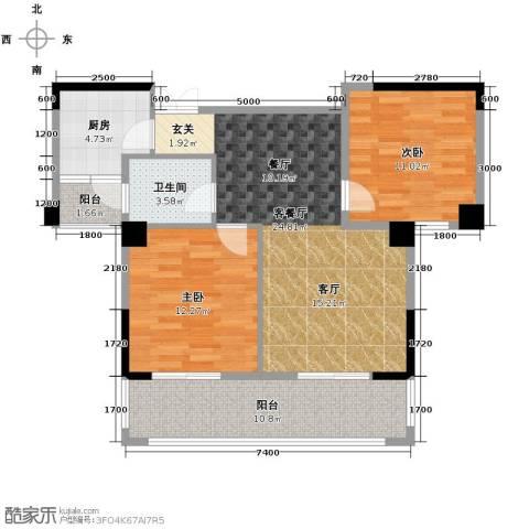 现代森林小镇金融SOHO垂直商业2室2厅1卫0厨88.00㎡户型图