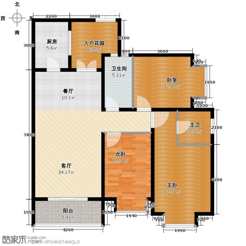 金旅城121.53㎡C1户型3室2厅2卫
