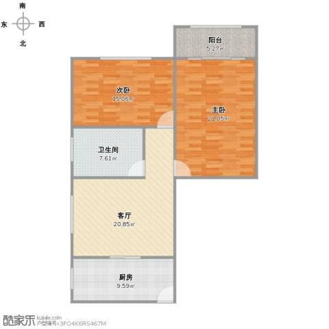 红旗教师公寓2室1厅1卫1厨106.00㎡户型图