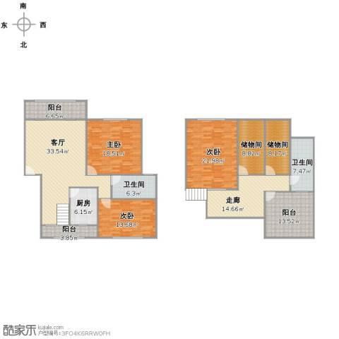 明纶园3室1厅2卫1厨219.00㎡户型图