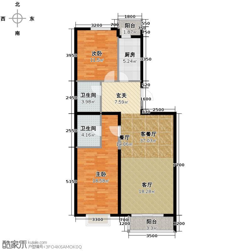 瑞雪春堂117.35㎡10#B17户型10室